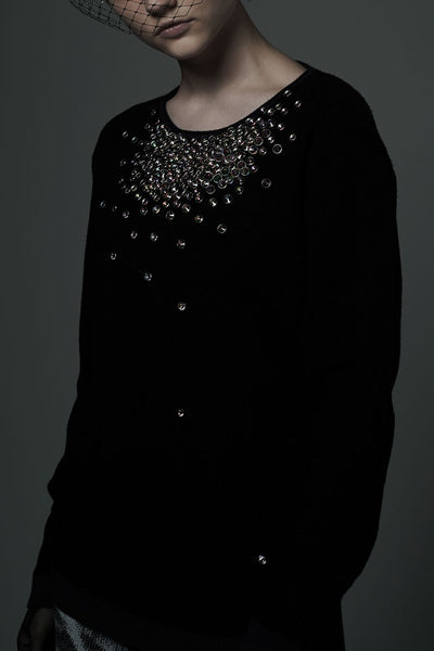 Slade Collection- Hand Made Diamond Rivet Knitwear