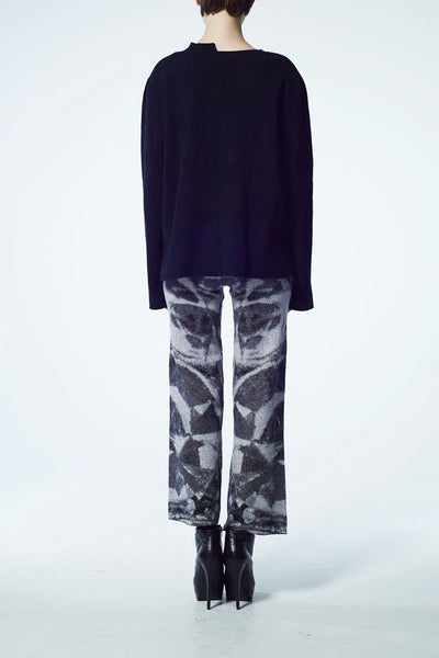 Slade Collection- Chain Graphic Knitted Jacquard Top