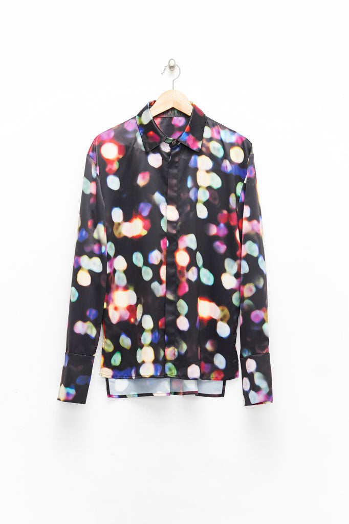 Slade Collection- Velvet Goldmine Inspired Printed Dots Shirt - Johan Ku Shop