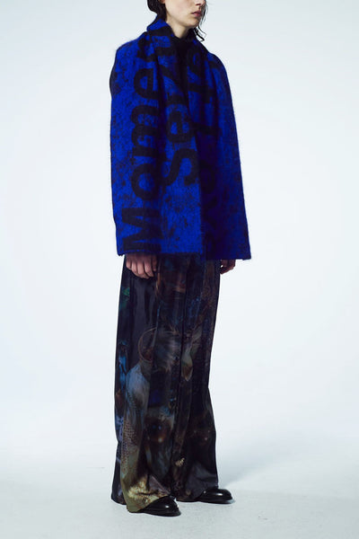 Slade Collection- Velvet Goldmie Inspired Graphic Printed Volume Trouser - Johan Ku Shop