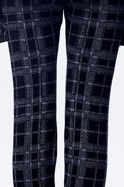Plait Pattern Knitted Legging in Gray