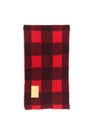 Jubilee Collection British Plaid Knitted Jacquard Pure Cashmere Snood - Johan Ku Shop
