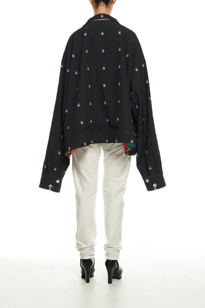 Andy Collection- Over-sized Graphic Dots Coat - Johan Ku Shop