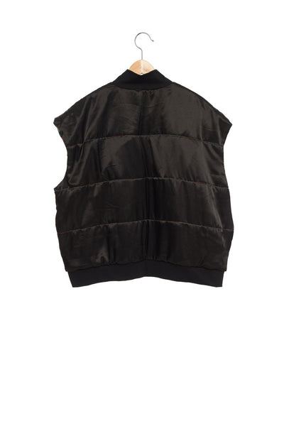 Andy Collection- Double Face Over-sized Graphic Vest - Johan Ku Shop