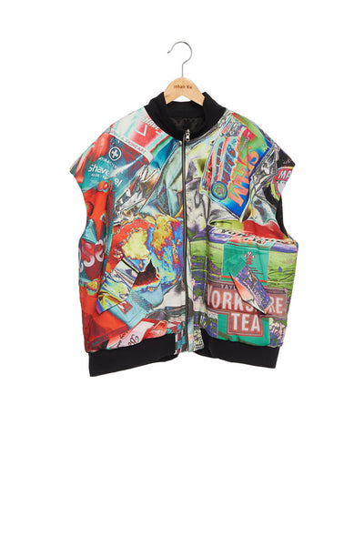 Andy Collection- Double Face Over-sized Graphic Vest