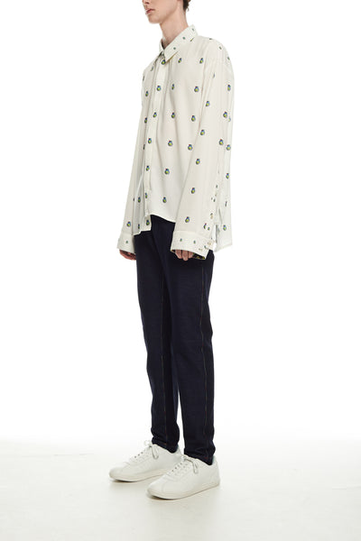 Andy Collection- Over-sized Graphic Dots Shirt