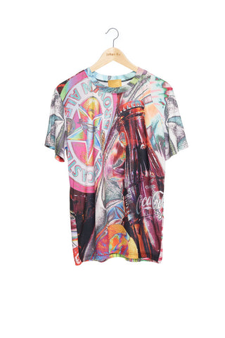 Andy Collection- British Supermarket Inspired Full Print T-Shirt - Glasses(Bright)