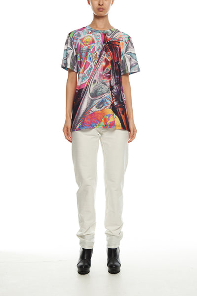 Andy Collection- British Supermarket Inspired Full Print T-Shirt - Glasses(Bright) - Johan Ku Shop