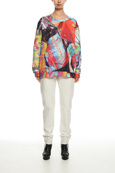 Andy Collection- British Supermarket Inspired Full Colour Sweatshirt - Glasses