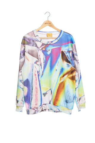 Andy Collection- British Supermarket Inspired Full Colour Sweatshirt - Tin Foil
