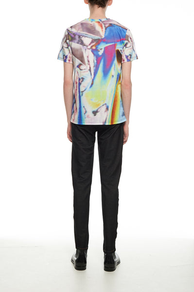 Andy Collection- Full Colour Tin Foil Graphic T-Shirt