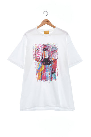 Andy Collection- British Supermarket Inspired Graphic T-Shirt - Wine(White)