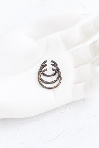 Triple Metal Nose Ring