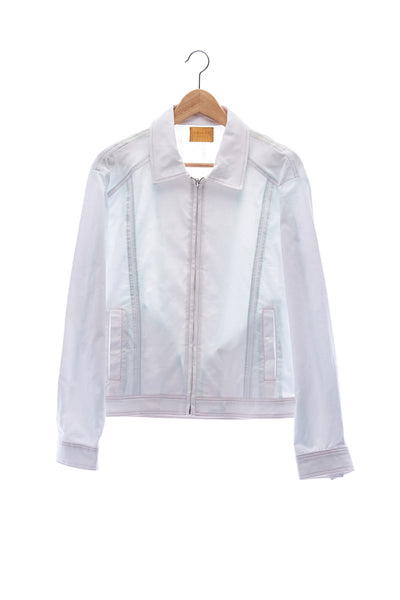 Elioliver Collection- Pastel Rainbow Elioliver Wording Print in Back  Jacket - White