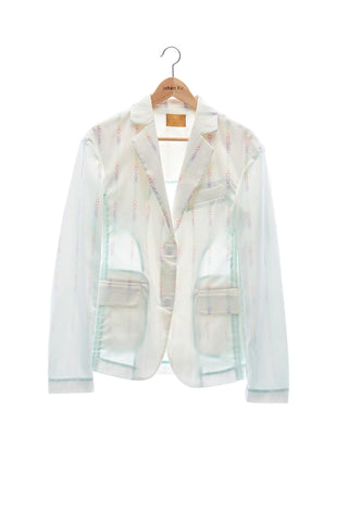 "Elioliver Collection- ""Elioliver"" Wording Graphic Jacket - Pastel Rainbow"