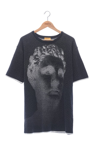 Elioliver Collection- Sculpture Knitted Jacquard Oversized Top - Black