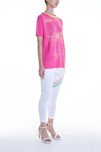 Elioliver Collection- Pastel Rainbow Detailed Skinny Trouser