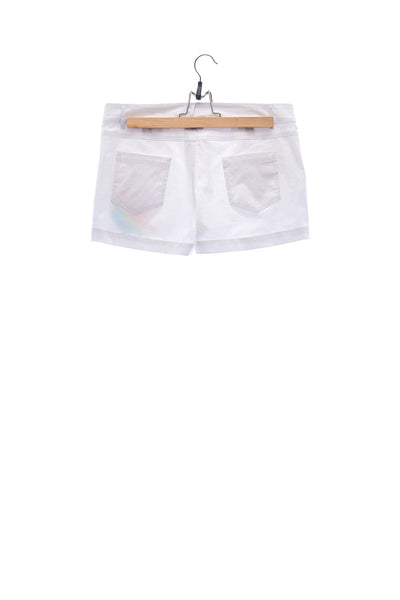 Elioliver Collection- Pastel Rainbow Detailed Hot Pants - White
