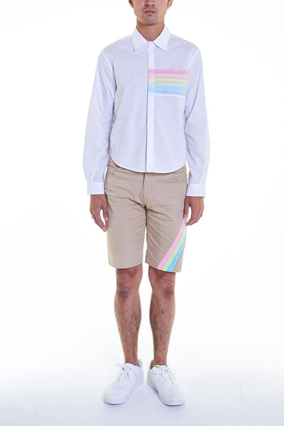 Elioliver Collection- Pastel Rainbow Details Short Shirt