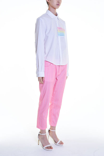 Elioliver Collection- Pastel Rainbow Details Short Shirt - Johan Ku Shop