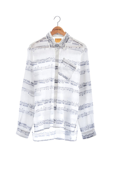 Elioliver Collection- Music Note Printed Shirt