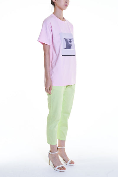 "Elioliver Collection- ""Sculpture in Slide"" Graphic T-Shirt - Pink"
