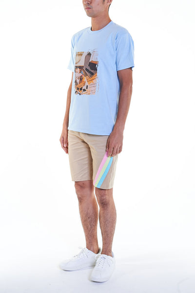 Elioliver Collection- Call Me by Your Name Image Graphic T-Shirt - Light Blue - Johan Ku Shop