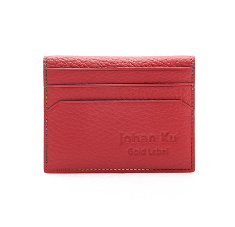 Elliot Collection - Rainbow Colour Stitch Leather Card Holder - Johan Ku Shop
