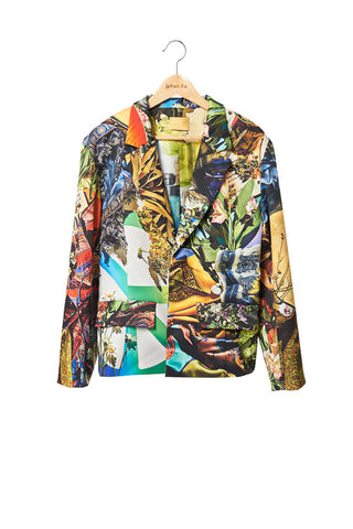 Elliot Collection- Woodstock Print Jacket