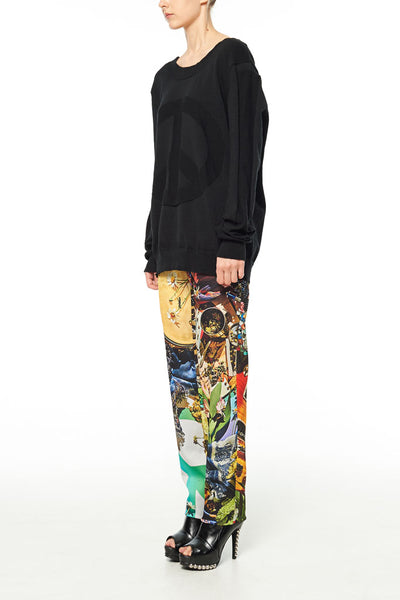 Elliot Collection- Woodstock Inspired Print Trousers
