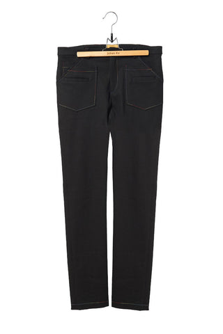 Elliot Collection- Rainbow Stitches Details Fitted Denim Trousers