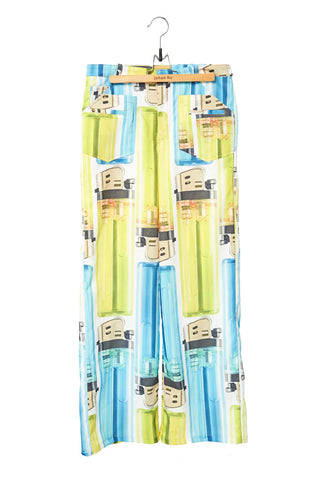 Elliot Collection- Lighter Print Wide Leg Trousers