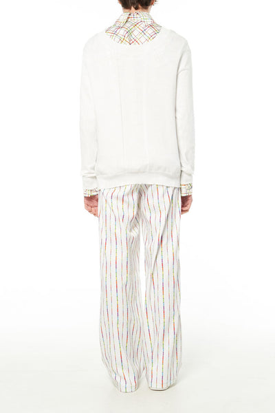 Elliot Collection- Lighter Straight Stripes Print Wide Leg Trousers