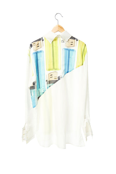 Elliot Collection- Lighter Image Asymmetric Details Oversize Shirt