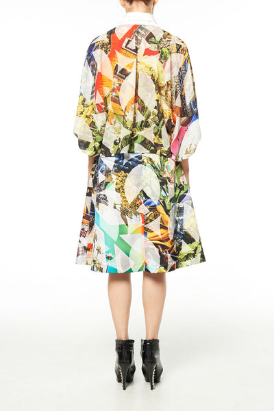Elliot Collection- Woodstock Image Print Oversize Blouse