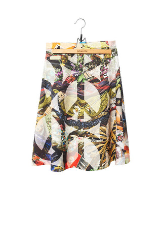 Elliot Collection- Woodstock Inspired Print A-Line Skirt