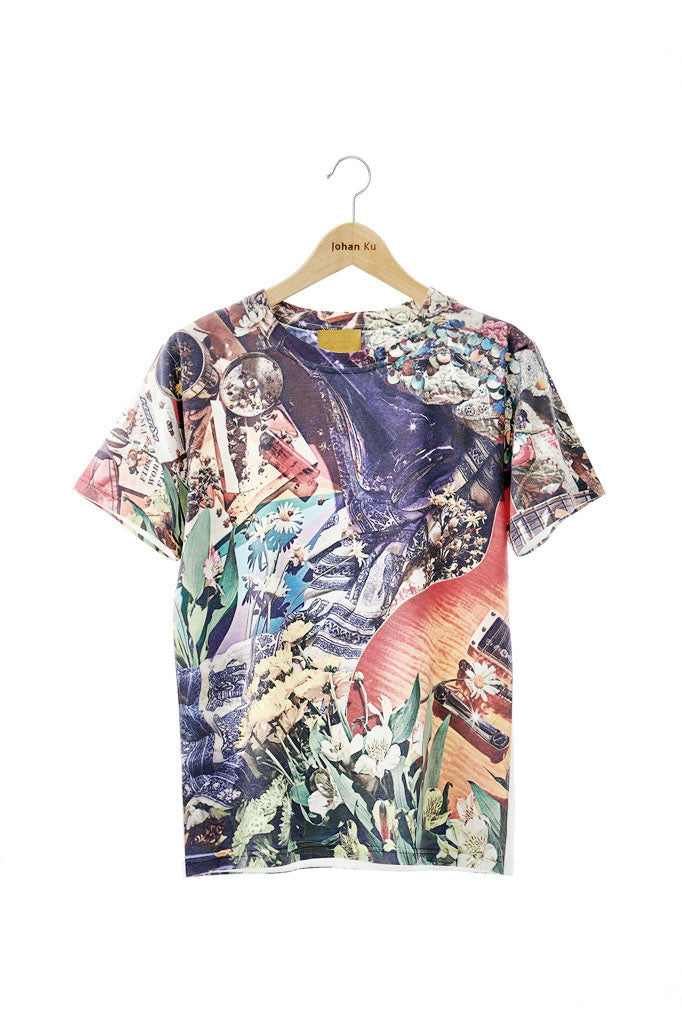 Elliot Collection - Woodstock Inspired Print Fitted Top - Johan Ku Shop