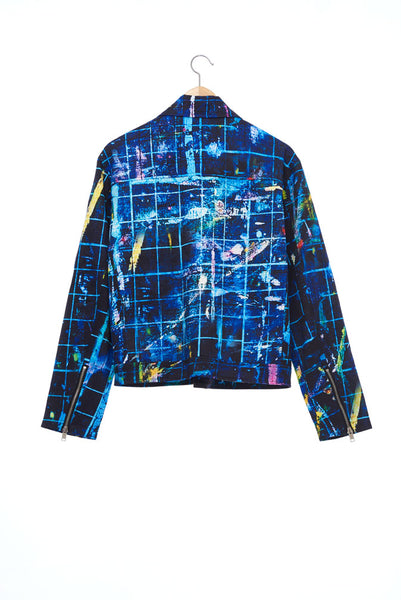 """The Painters"" Collection- Cutting Mat Printed Biker Jacket"