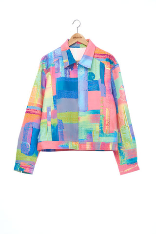 """The Painters"" Collection- Abstract Paint Printed Jacket"