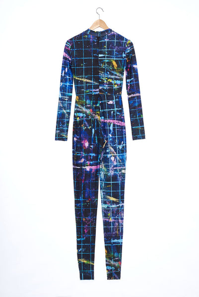 """The Painters"" Collection- Cutting Mat Printed Elastic Jersey Catsuit"