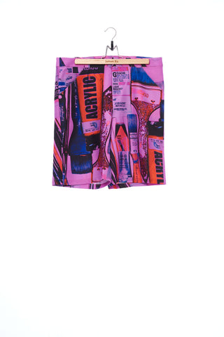 """The Painters"" Collection- Painting Tools Pink Printed Shorts"