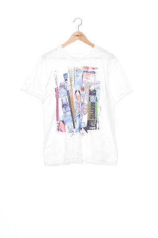 """The Painters"" Collection- Painting Tools POP Graphic Print T-Shirt -White"