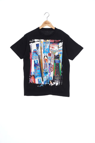 """The Painters"" Collection- Painting Tools POP Graphic Print T-Shirt -Black"