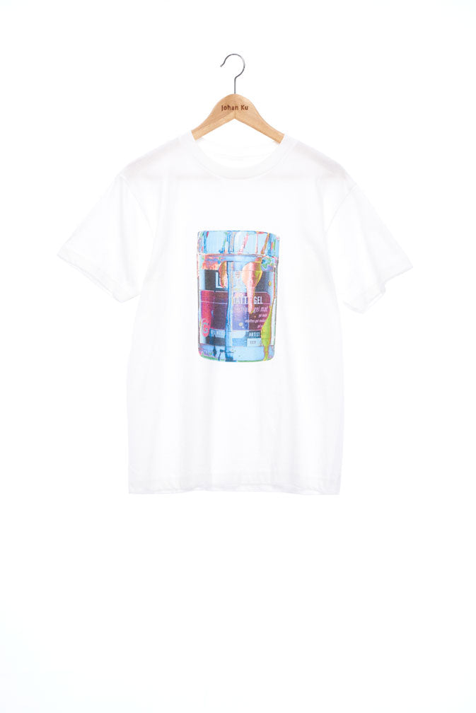 """The Painters"" Collection- Pop Art Colour Paint Can Print T-Shirt - White"