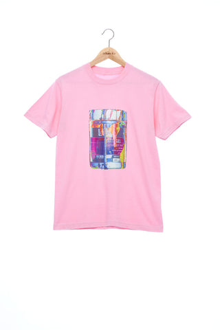 """The Painters"" Collection- Pop Art Colour Paint Can Print T-Shirt - Pink"