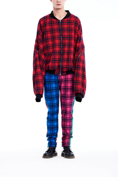 Sean Collection- BPM Inspired Over-sized Tartan Jacket