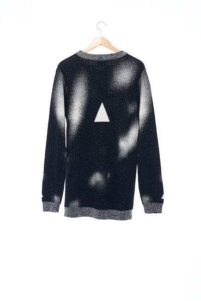 Sean Collection- BPM Image Graphic Jacquard Knitwear- B/W