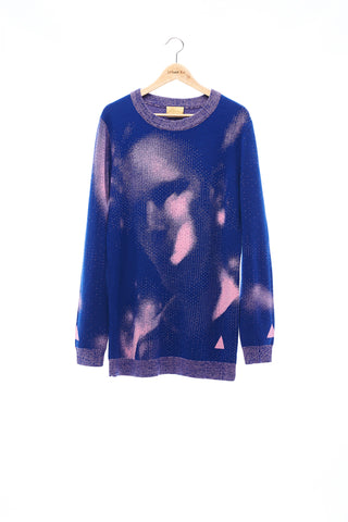 Sean Collection- BPM Image Graphic Jacquard Knitwear- Blue/Pink