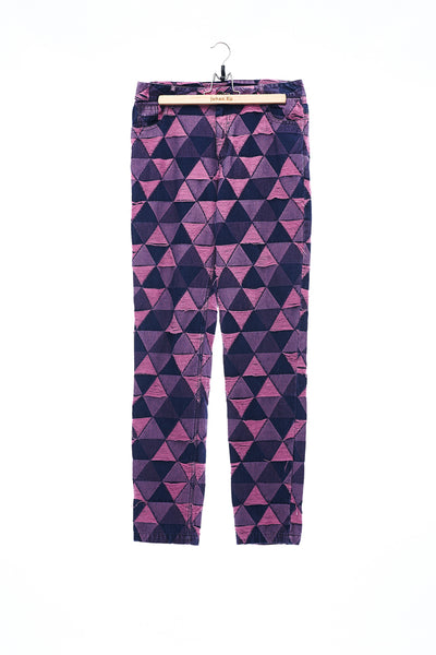 Sean Collection- Triangle Graphic Jacquard Trouser -Pink