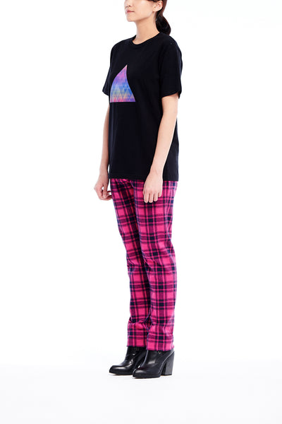 Sean Collection- Knitted Jacquard Tartan Trouser